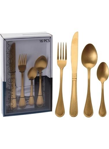 Koopman Koppman 16 Parça Mat Gold Çatal Kaşık Bıçak Seti Altın